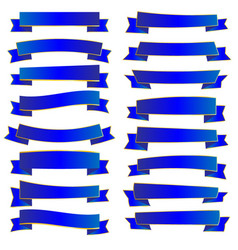 gold and blue ribbon vector image