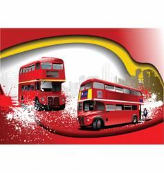 grunge London background vector image