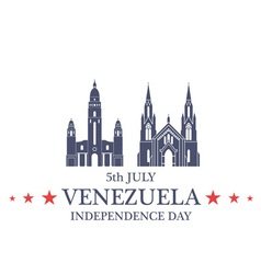 Independence Day Venezuela vector image vector image