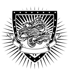 inline shield vector image