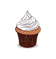 Isolated Creamy Cupcake vector image