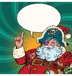 Santa Claus pirate pointing gesture vector image vector image
