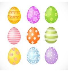 Set of colored Easter eggs vector image vector image