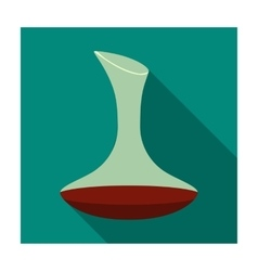 Wine decanter icon in flat style isolated on white vector image vector image