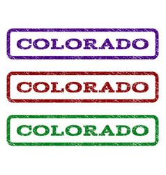 colorado watermark stamp vector image vector image