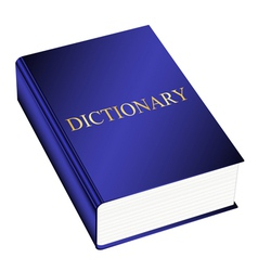 dictionary vector image vector image