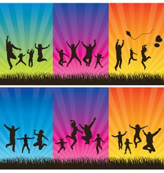 Happy family conceptual backgrounds vector image