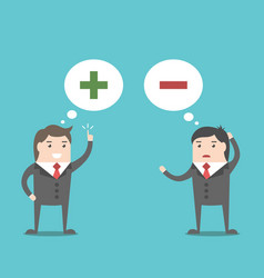 positive and negative thinking vector image
