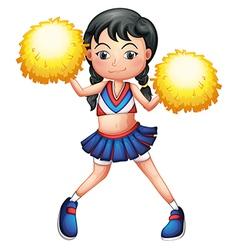 A pretty cheerleader vector image vector image