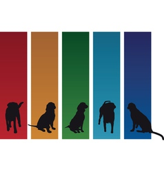 colourful dogs vector image