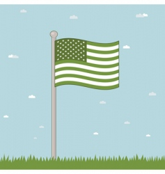 green USA vector image