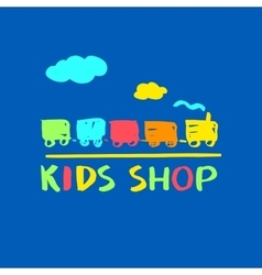 Logo template for kids shop and market vector image vector image