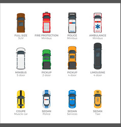means of transportations collection on white vector image