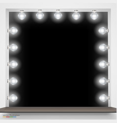 mirror with bulbs for makeup vector image vector image