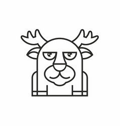 Cute deer icon on white background vector