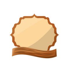 Emblem crest blank vector