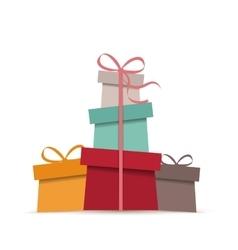 Retro Christmas presents vector image vector image