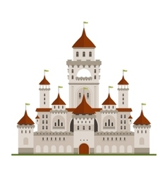 Royal family castle with guard walls main palace vector image
