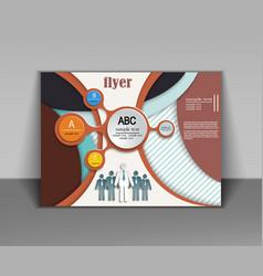 abstract business flyer brochure design vector image
