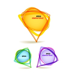 abstract color talking triangle bubbles vector image
