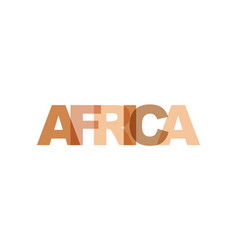 africa phrase overlap color no transparency vector image