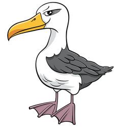 Albatross bird animal character cartoon vector