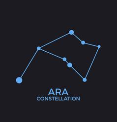 Ara constellation stars in night sky cluster vector