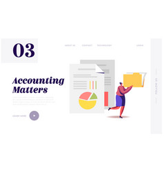 Audit analysis inspection website landing page vector