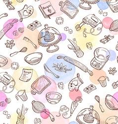 baking background vector image