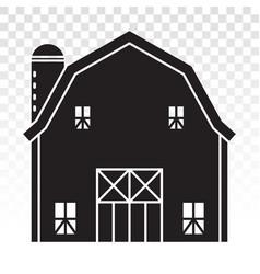 Barn or farm house with pole barns flat icon vector