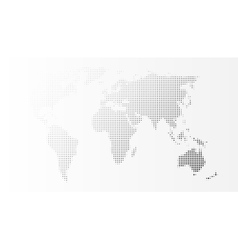 Blank Grey Abstract World Map Template vector image