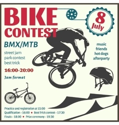 BMX Event Flyer vector