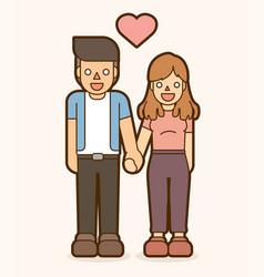 Boy and girl holding handscouple love vector