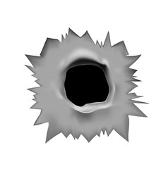 bullet hole a through hole vector image
