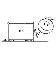 Cartoon happy smiling man businessman vector