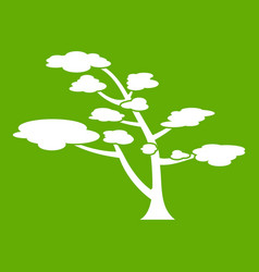 cedar icon green vector image