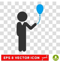 Child With Balloon Eps Icon vector image