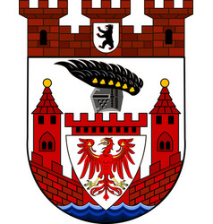 Coat of arms of spandau in berlin germany vector