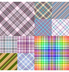 Collection colorful geometric seamless patterns vector image