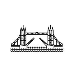 concept of tower bridge icon vector image