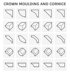 Crown moulding cornice vector
