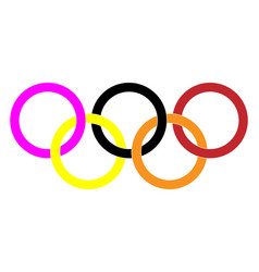 Different color olympic rings olympic games vector