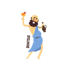 Dionysus olympian greek god ancient greece vector