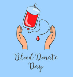 Donate blood day theme hand draw vector