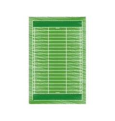 drawing field american football grass vector image