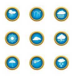 Edge icons set flat style vector