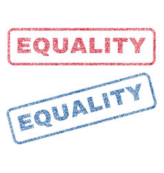 Equality textile stamps vector