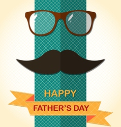 Father Day card with spectacles vector