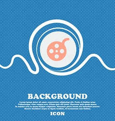 Film sign icon Blue and white abstract background vector image