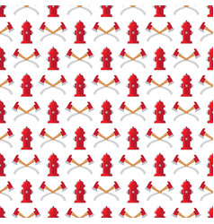 fire safety seamless pattern fire hydrant vector image